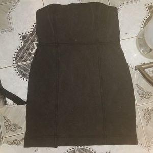 Victoria Secret Suede Look Strapless Dress NEW